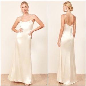 NEW NWT Reformation Minerva Maxi Slip Dress Bridal